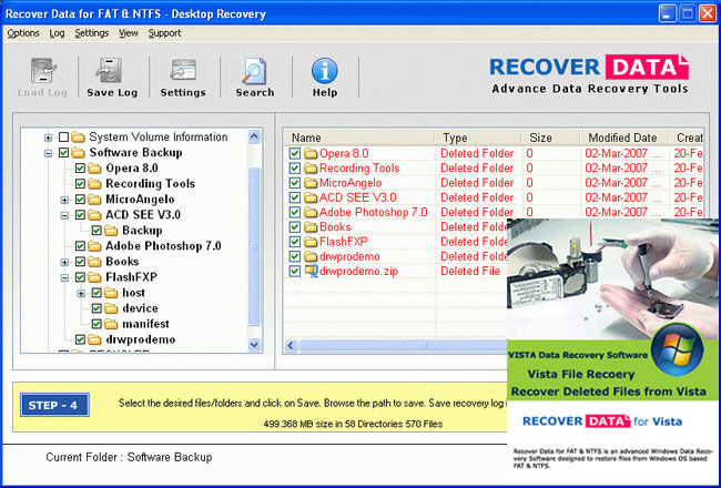 Advance Data Recovery Software for Vista